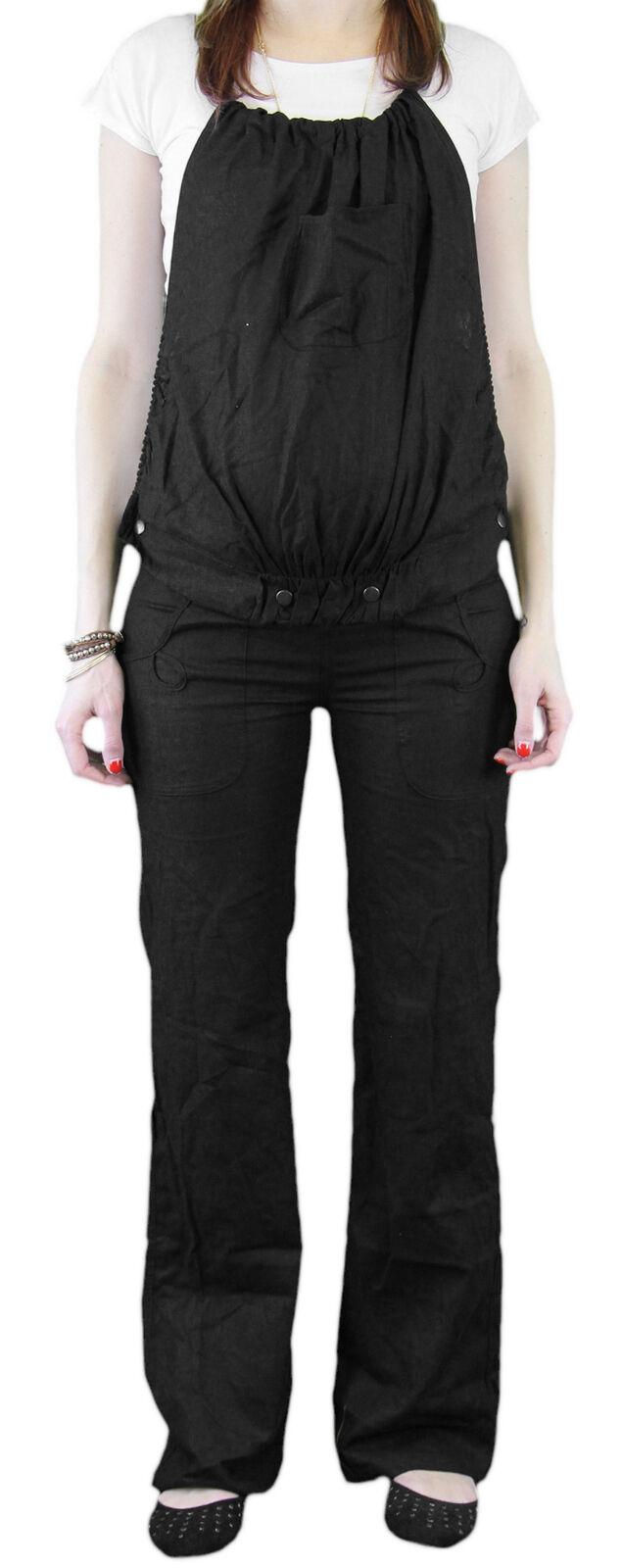 9 mode Maternité Rico Noir Convertible Pantalon TAILLE S