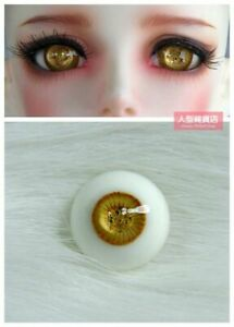 16mm Glass Eyes For 1//3 1//4 1//6 BJD Doll with Handled Sphericity A Pair of