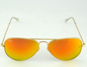 15498fd31e Ray Ban RB3025 Aviator Flash Lenses 112 69 Gold Frame Orange Flash ...