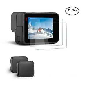 GoPro Hero 5 Action Camera Ultra Clear Tempered Glass Screen Protector Lens Cap
