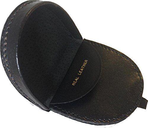 Real Leather Gents Medium Coin Tray Purse Wallet Change Men Pocket Money Xmas