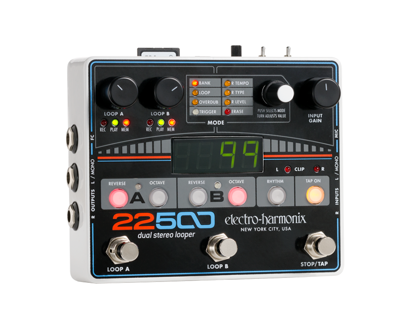 EHX Electro-Harmonix 22500 Dual Stereo Looper Guitar Effects Pedal