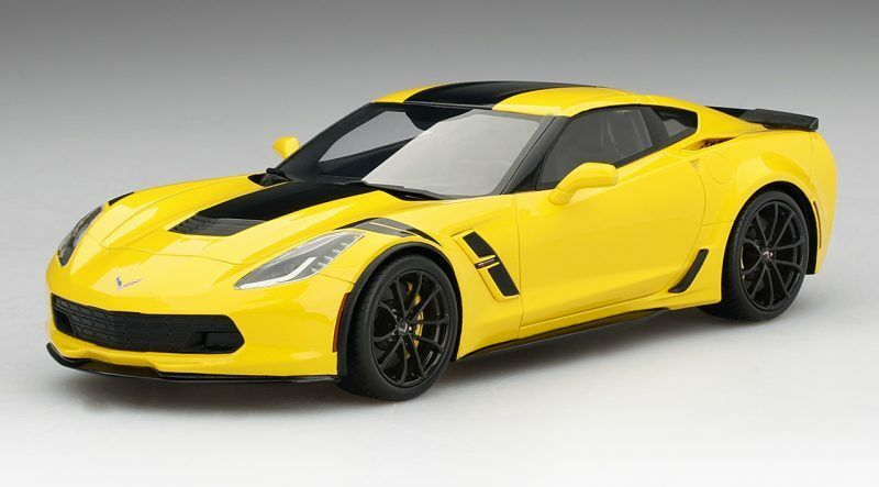 Chevrolet Corvette Grand Sport Corvette Racing Yellow Top Speed 1 18 Model