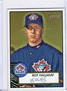 2001 TOPPS HERITAGE BASEBALL CARD # 75- HOF ROY HALLADAY - TORONTO BLUE JAYS