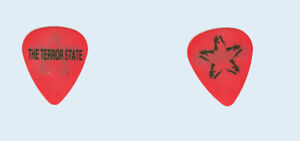 Anti-Flag-1998-tour-used-Black-on-Red-The-Terror-State-star-logo-Guitar-Pick-Pic