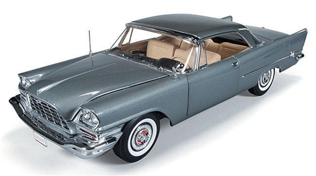 1 18 ERTL Authentics AutoWorld 1957 CHRYSLER 300c grigio Popular Mechanics