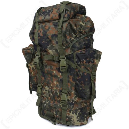 German Army Flecktarn 65L Rucksack Military Backpack Bag Cadets Hiking D of E