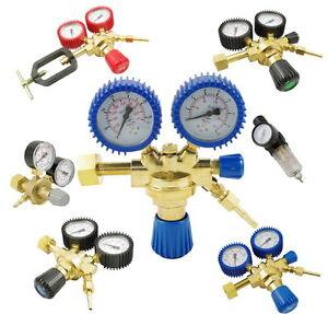 Druckminderer-Druckregler-Argon-CO2-Schutzgas-Sauerstoff-Stickstoff-Acetylen-NEU