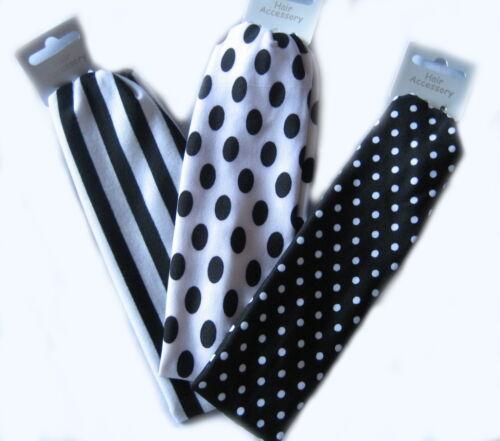 Bandeau noir et blanc bandeau serre-tête avec stretch nouveau design choix