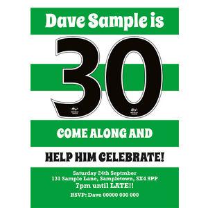 personalised birthday party invitations invites celtic football team