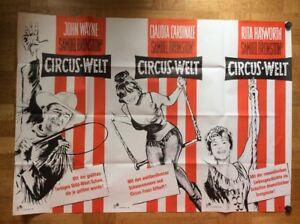 Circus-Welt-B-A0-Plakat-64-John-Wayne-Rita-Hayworth-Claudia-Cardinale