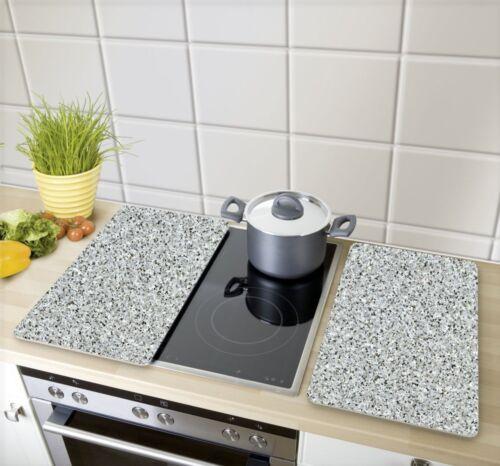 Herdabdeckplatten Universel Granit 2er Set pour tous types de cuisinières