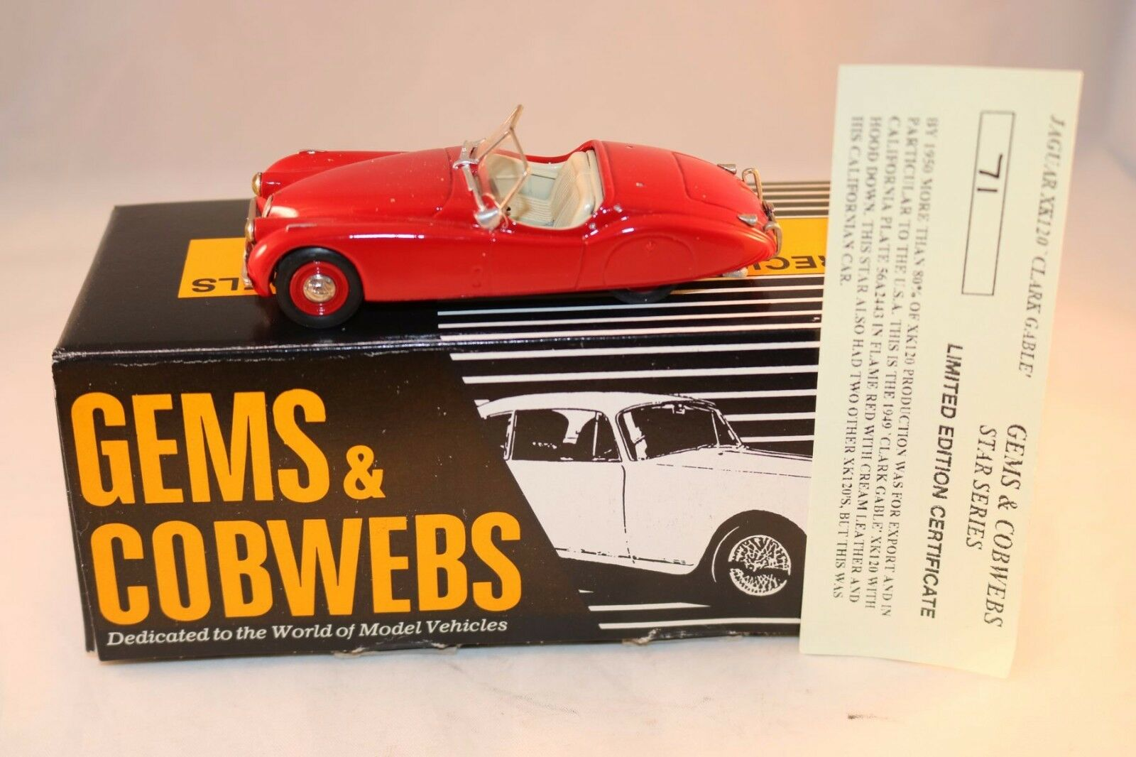 Gembs & Cobwebs GC30LTE Jaguar XK120 CLARK GABLE Limited edition mint in box
