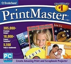 PRINTMASTER-18-1-DVD-Cards-Labels-Newsletters-Greeting-Cards-Photo-Editing-NEW