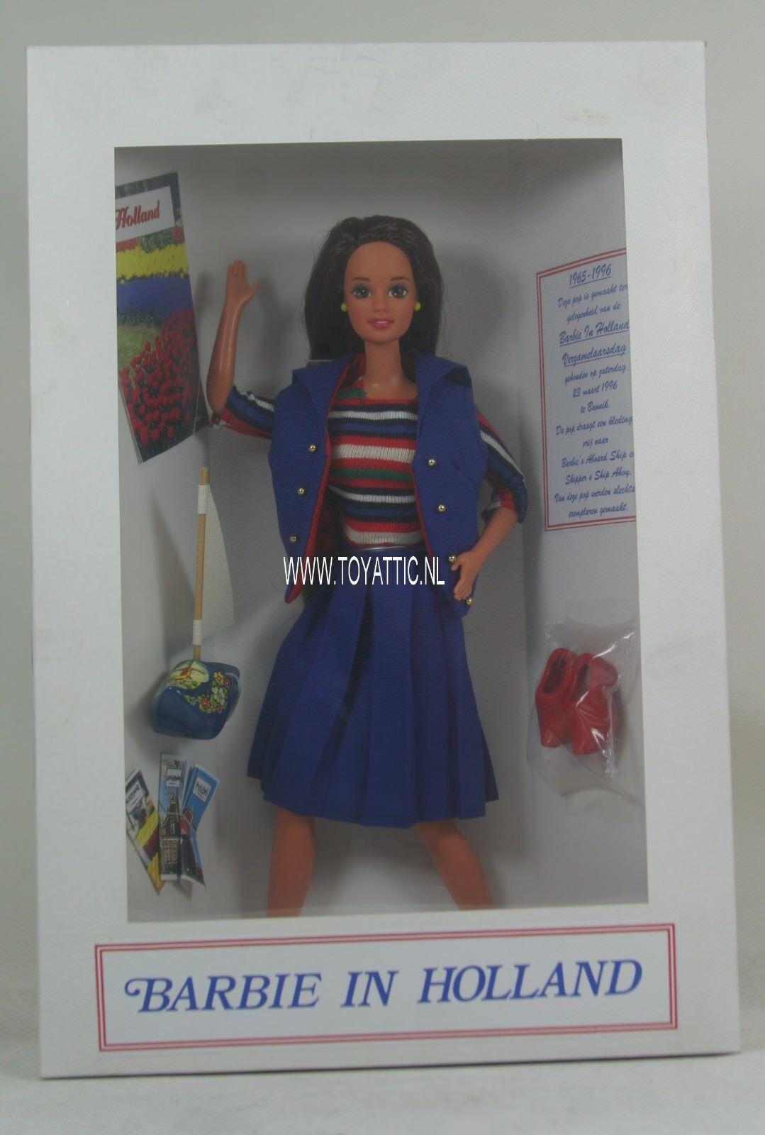 Convenio De Barbie Muñeca Barbie en Holanda 1996 Réplica Antigua a bordo en Caja Original