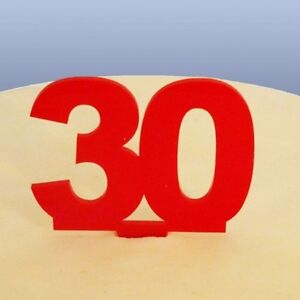 30 Compleanno Cake Topper Rosso