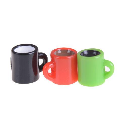 6pcs Mini Coffee Cup Miniature Dollhouse Food Drink Home Tableware Decorss!