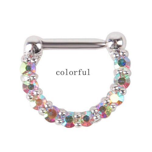 télécommande le septum le perçage des bijoux hoop zircone cubique anneau de nez