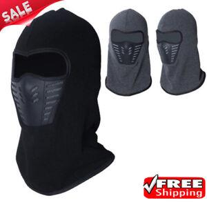 Moto-Deporte-Cuello-Pasamontanas-Lana-termica-mascara-facial-completa-de-Esqui-De-Invierno-Sombrero