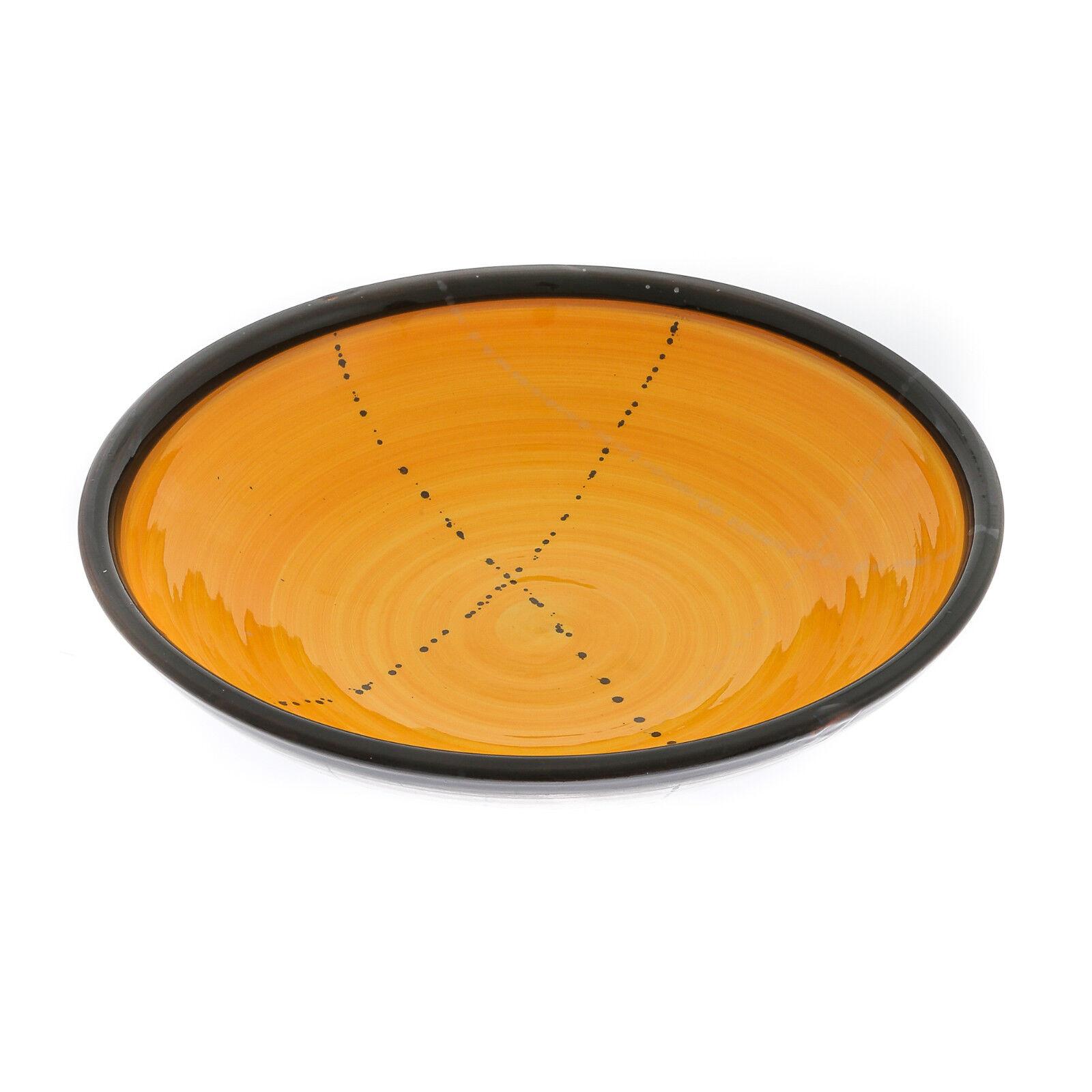 Dinner Bowl or Platter - Handmade Ceramic Centerpiece - Yellow 13 - 33cm