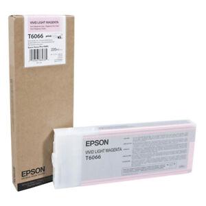 Genuine-EPSON-T6066-vivida-luce-CARTUCCIA-DI-INCHIOSTRO-MAGENTA-ULTRA-CHROME-C13T606600