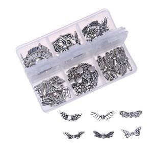 DIY-Schmetterling-Engelsfluegel-Deko-Bastel-Zubehoer-Metall-Perlen-Schmuck-Silber