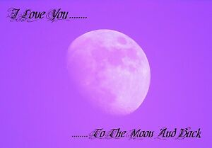 Canvas Art Print Lanscape Picture The Moon 30x20 I love you to the moon amp back - <span itemprop=availableAtOrFrom>Crawley, United Kingdom</span> - Canvas Art Print Lanscape Picture The Moon 30x20 I love you to the moon amp back - Crawley, United Kingdom