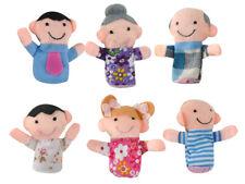 Fingerpuppen Set Familie 6 Stück Bunt Weich Stoff Theater Kinder Babys 5957