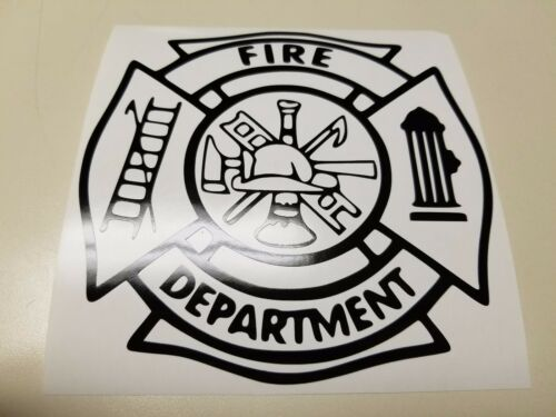 Window Toolbox Sticker #152 Maltease Cross Fire Department Sticker