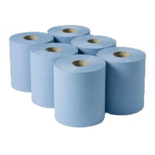 Centro Azul Tire Rolls-Caja de 6 400 Hoja 2ply limpie la higiene Tejido De Cocina