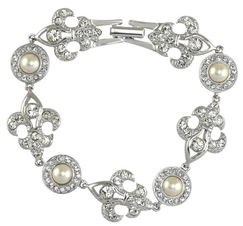 Queen Elizabeth II's Jubilee Bracelet Reroduction in Swarovski Crystal