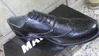 Steve Madden Franky Black Wingtip Shoes Mens 8.5 Madden Lace Ups
