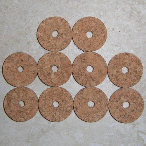 "10 NATURAL BLONDE BURL CORK RINGS 1 1//4/"" D x 1//4/"" H x 1//4/"" I.D."