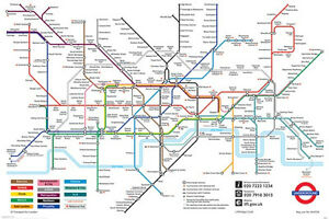 Map Of England Underground.Details About London Underground Map Poster England United Kingdom Urban Zone Never Hung