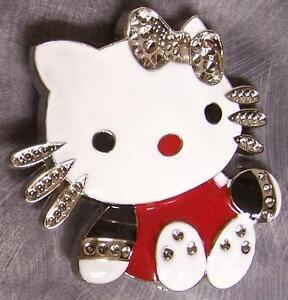 Pewter-Belt-Buckle-Cartoon-Hello-Kitty-NEW