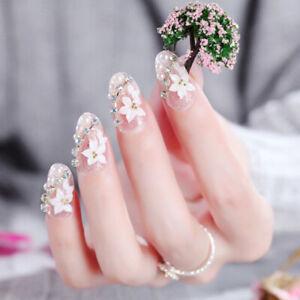 24pc-Pink-Gradient-Nails-Flower-Full-Frame-False-Nail-Tips-Full-Cover-Fake-AF