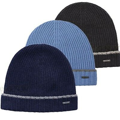 0a760dd3fb19cc Details about HUGO BOSS FOLD OVER SOFT PURE WOOL BEANIE HAT 'FATI' UK STOCK  NEW