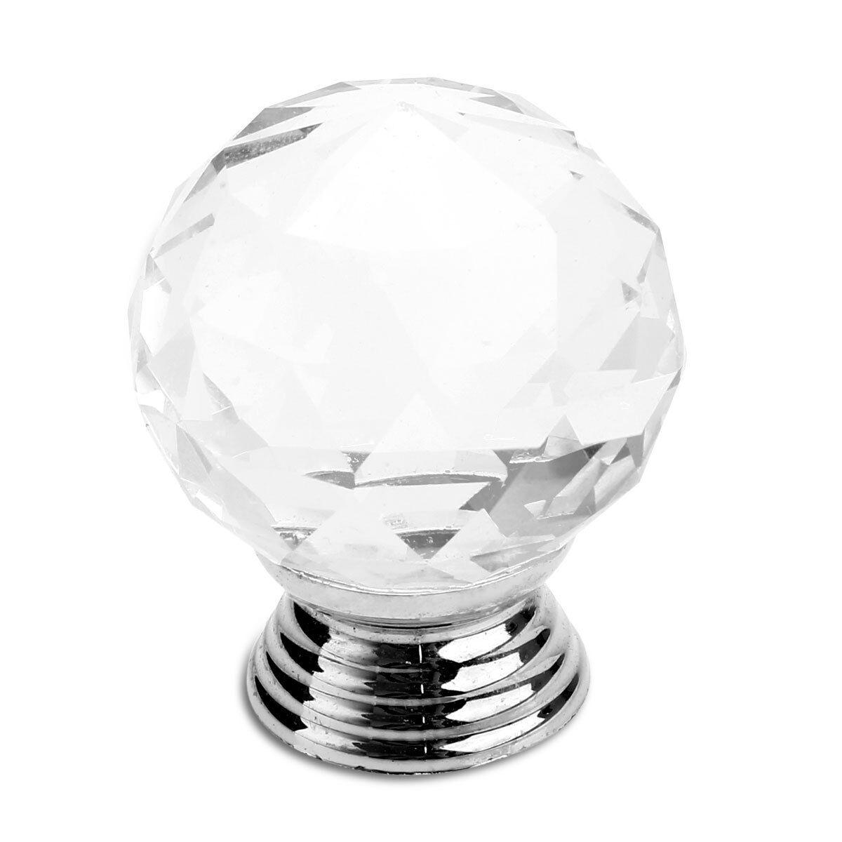 1-32 Stück Glas Kristall Türknöpfe Möbelknöpfe Türgriff Schrank Knopf  Möbelgrif