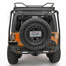07-17 Jeep JK Wrangler Rear Spare Tire License Plate Relocation Bracket Kit Set