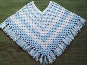 Girls poncho crochet pattern no 98 designed by kay jones ebay