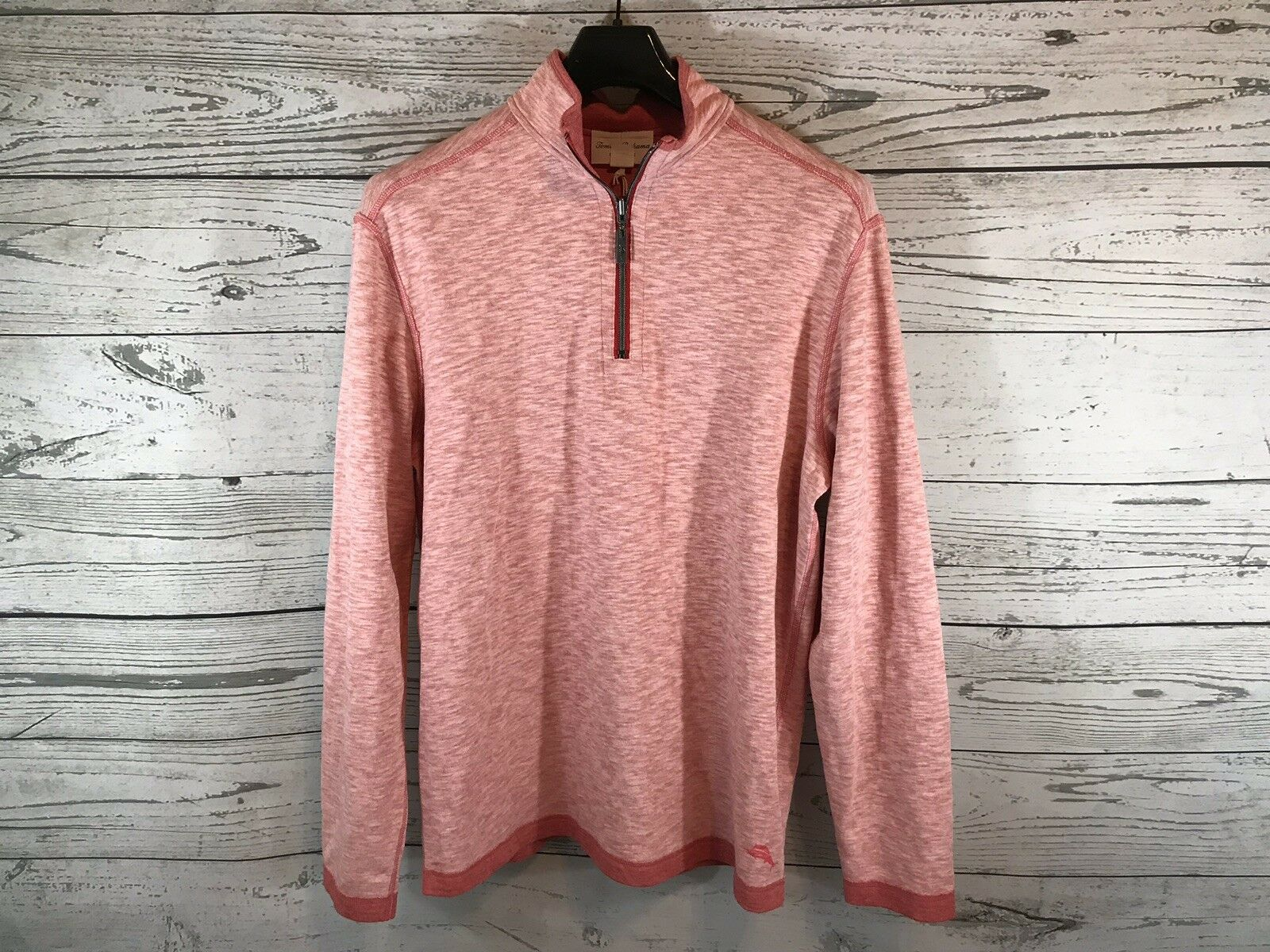 Tommy Bahama  Herren Light ROT Reversible 1/4 ZIP Pullover Sweater Größe Medium NWT