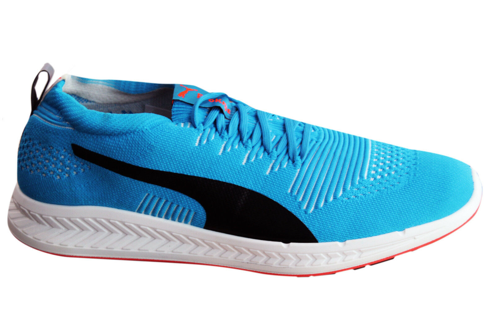 Puma Ignite ProKnit Mens Trainers Lace Up Running Shoes Blue Black 188177 05 M10