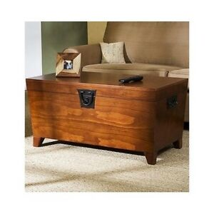 Details about Hope Chest Storage Trunk Wood Bedroom Blanket Coffee Table  Large Box For Quilts