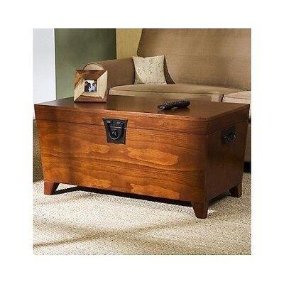 Hope Chest Storage Trunk Wood Bedroom Blanket Coffee Table