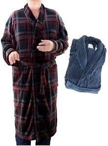 fc06be3cfd MAJESTIC Men s Plush Fleece ROBE Dressing Gown Lounger Bathrobe ...