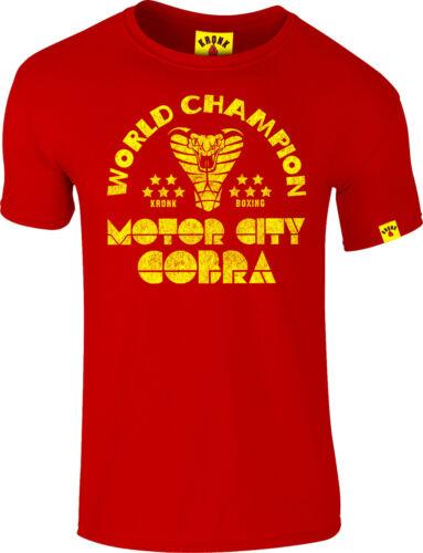 KRONK Thomas Hearns Motor City Cobra Men/'s Slim Fit Cotton T Shirt