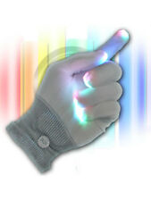Super Cool LED White 6 Light Flashing Modes Gloves,Event Light Show Gloves