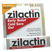 Zilactin Cold Sore Gel, Medicated Gel 0.25 Oz (pack Of 5) on sale
