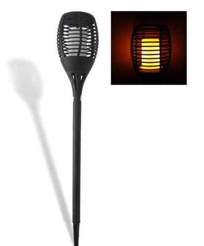 Solarlampe Solarleuchte Solarfackel flackernde Kerze Feuer Optik 72 Power LED
