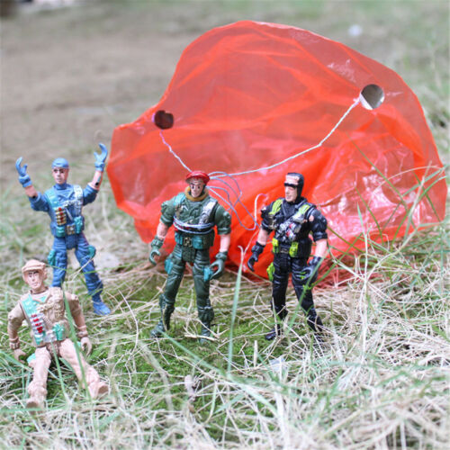 9cm I PARACADUTISTI PARACADUTE SOLDATI FIGURE MINIATURE Militare modello Kid Toy HG